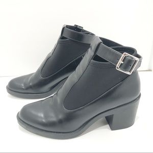 Zara block Heel Stretchy Ankle Boots